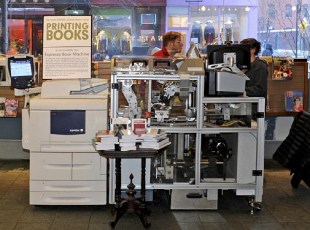 The Espresso print on demand machine
